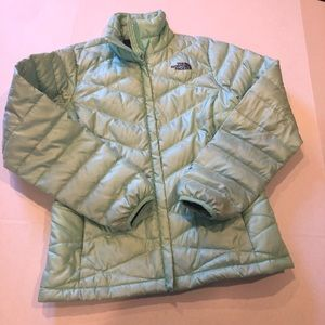 The North Face green puffer jacket small